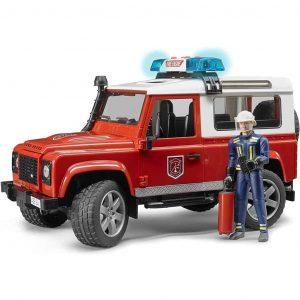 Bruder pompieri LAND ROVER DEFENDER scala 1:16
