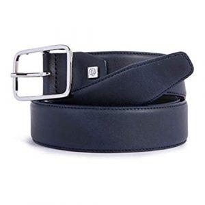 Cintura Piquadro uomo fibbia ad ardiglione in pelle nero