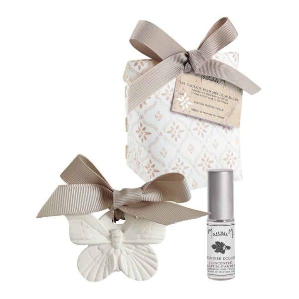 Confezione Gessi profumati con vaporizzatore 5ml Mathilde M Palazzo Bello Fragranza Figuier Dolce