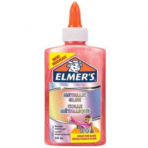 Elmer's Colla Vinilica Metallizzata Rosa Ottima per Realizzare Slime