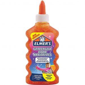 Elmer's Colla Vinilica Ottima per Realizzare Slime Arancione Glitter