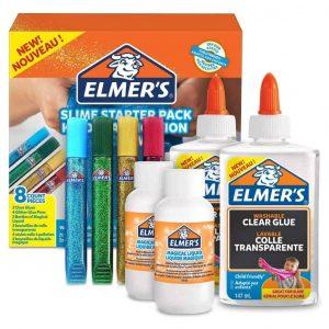 Elmer's Kit di Base con Colla Trasparente Colla Glitterata e Liquido Magico Attivatore di Slime