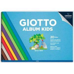 Giotto Album A4 Kids carta colorata 20F 120G