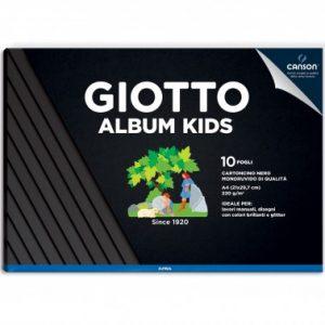 Giotto Album A4 Kids per disegno 10F 220gr Cartoncino nero