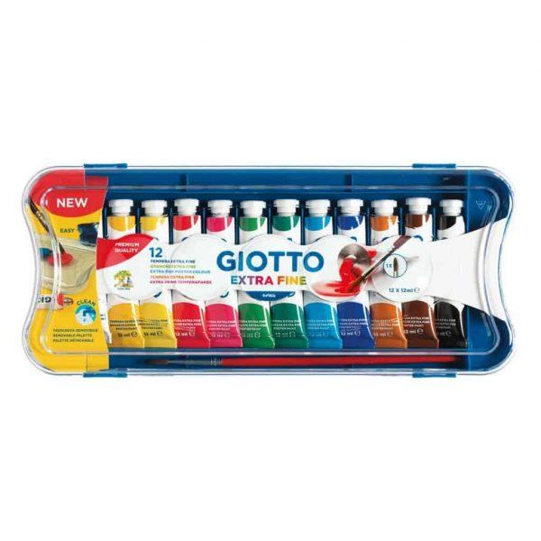 Giotto Tempera Extra Fine in tubetto 12ml Scatola 12 pz