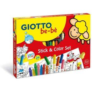 Giotto be-be' Stick & Color Set 24 pezzi assortiti
