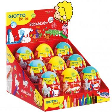 Giotto be-bè Stick&Color Egg conf. 8 pastelli