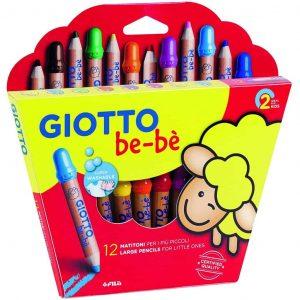 Giotto be-bè astuccio matitoni 12 pezzi assortiti