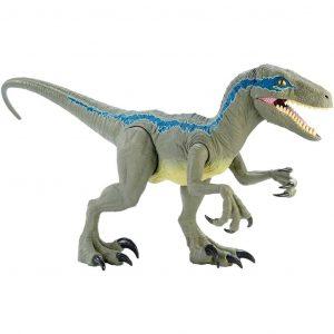 Jurassic World Dino Rivals Velociraptor Blu Dinosauro Articolato da 37 cm