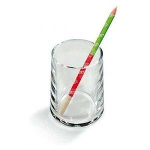 Lebez bicchiere portapenne in acrilico trasparente