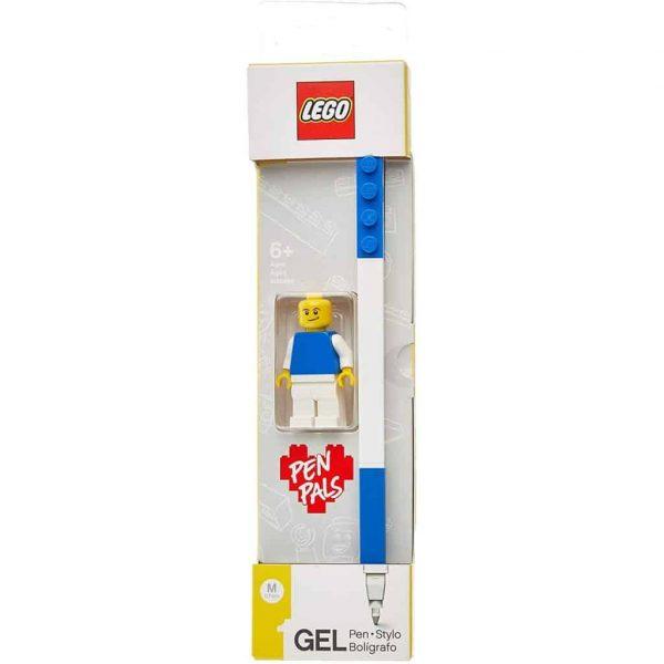Lego Gel Pen Blu + Minifigure