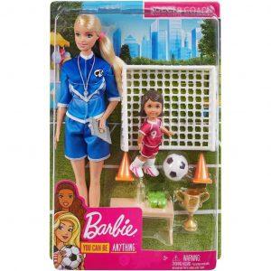 Mattel Barbie Playset Allenatrice di Calcio con 2 Bambole e Accessori