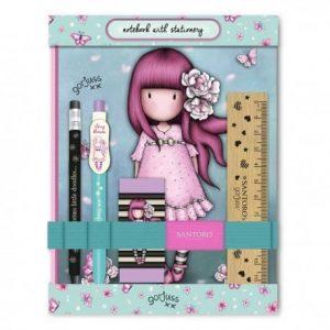 Notebook Stationery Set Cherry Blossom Gorjuss