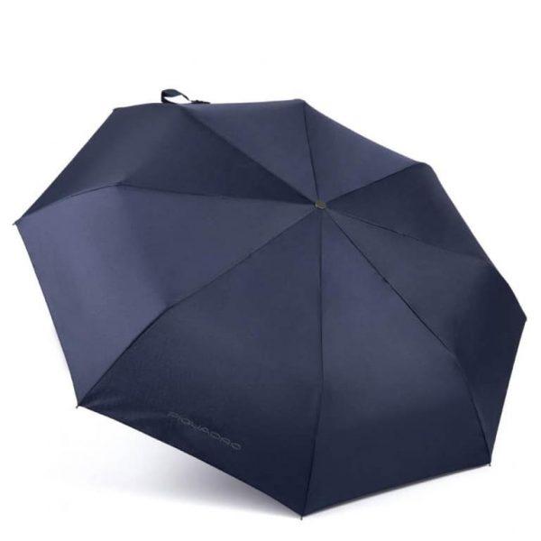 Ombrello Piquadro mini automatico open/close antivento blu