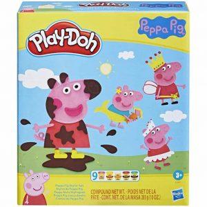 Play-Doh Stylin Set Peppa Pig con 9 barattoli di Composto modellabile