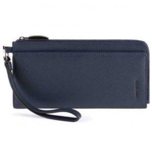 Pochette Piquadro porta documenti in pelle Modus Restyling blu