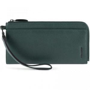 Pochette Piquadro porta documenti in pelle Modus Restyling verde