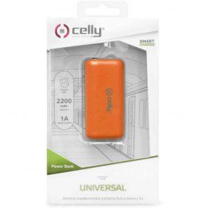 Power Bank 2200 mAh Celly arancio