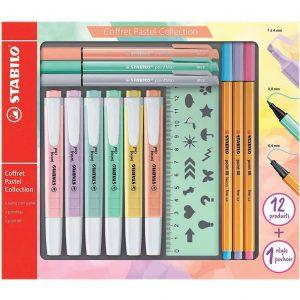 STABILO Pastel Set 13 pezzi: 6 swing cool pastel