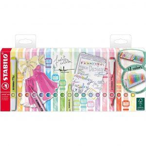 Stabilo Evidenziatore swing cool Desk-Set 18 Colori Assortiti 8 Neon 10 Pastel