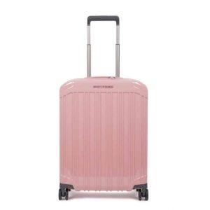 Trolley cabina rigido ultra slim a quattro ruote PQ-Light rosa
