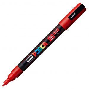 Uni Posca marcatore a tempera silver 0.9-1.3mm rosso