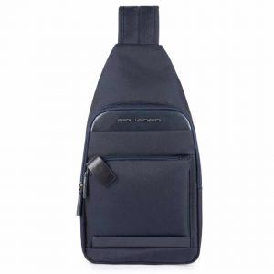 Monospalla Piquadro Klout Pelle e Tessuto Blu CA4536S100/BLU