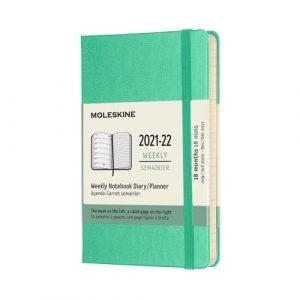 Moleskine Agenda Settimanale 18 Mesi 9x14 Pocket Rigid Verde