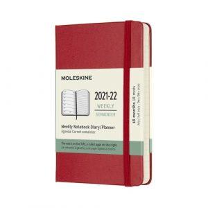 Moleskine Agenda Settimanale 18 Mesi 9x14 Pocket Soft Rossa
