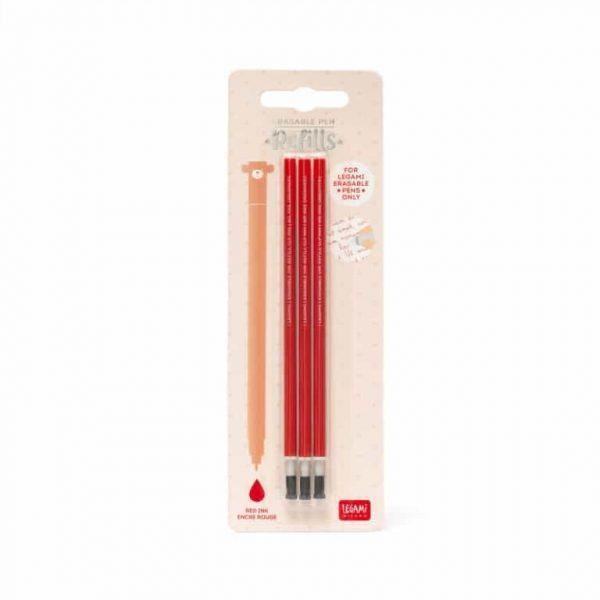 Legami Refill Penna Cancellabile Inchiostro Rosso
