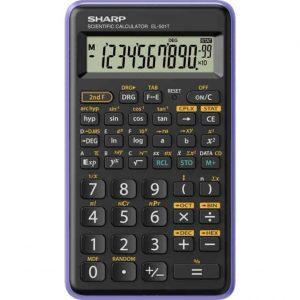 Sharp Calcolatrice Scientifica Piccola Blu