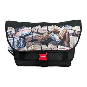 Sprayground Money Rolled Messenger Bag