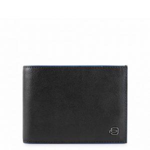 Portafoglio Piquadro uomo 12 porta carte in pelle Blue Square Special nero