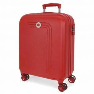 Trolley Movom Cabina 55cm 4 Ruote Rigato Rosso