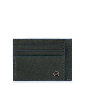 Bustina Piquadro uomo porta carte tascabile pelle Blue Square Special verde