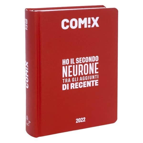 COMIX Diario Standard 2021/22 Datato 16 Mesi Cartonato 13.5x18.5cm Rosso Scritta Bianca