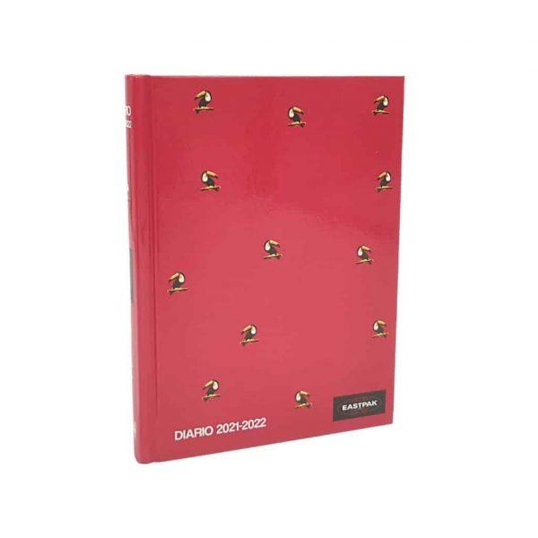 Diario Datato Cartonato 2021/22 11x15cm Eastpak Rosso