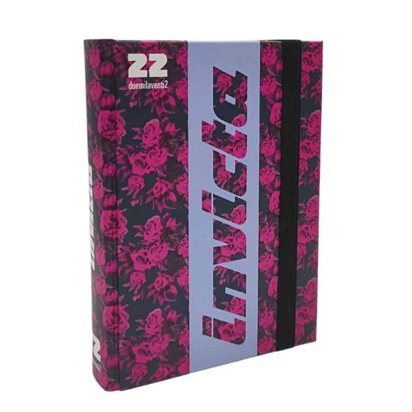 Diario Invicta 2021/22 Datato 13.5x18.5cm Copertina Rigida Elastico Rosa e Azzurro