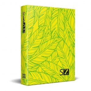 Diario ScuolaZoo 16 Mesi Cartonato Datato 11x15cm Leaves
