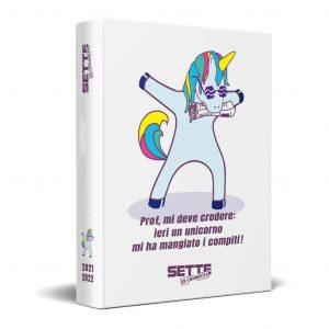 Diario Sette in Condotta 12 Mesi Cartonato Datato 13x17cm Unicorn