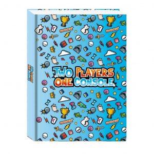 Diario Two Players One Console 2021/22 Non Datato 11x15cm Copertina Morbida Azzurro