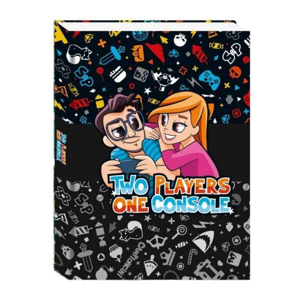 Diario Two Players One Console 2021/22 Non Datato 11x15cm Copertina Morbida Nero
