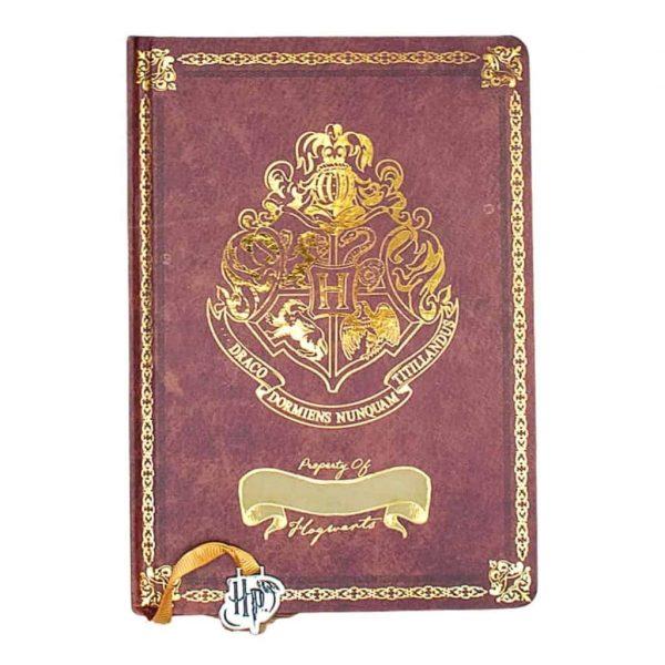 Harry Potter Notebook A5 Bordeaux Premium Cartonato con Segnalibro