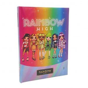 RAINBOW HIGH Diario 2021/22 Non Datato 12 Mesi Imbottito 13.5x18.5cm Arcobaleno