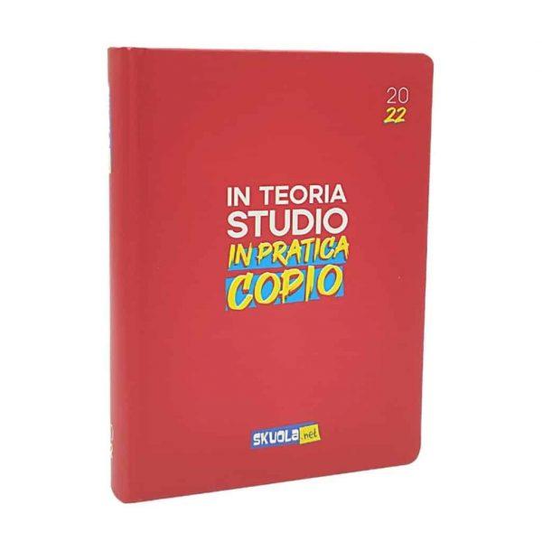SKUOLA.NET Diario 2021/22 Datato 16 Mesi Cartonato 12x17cm Rosso