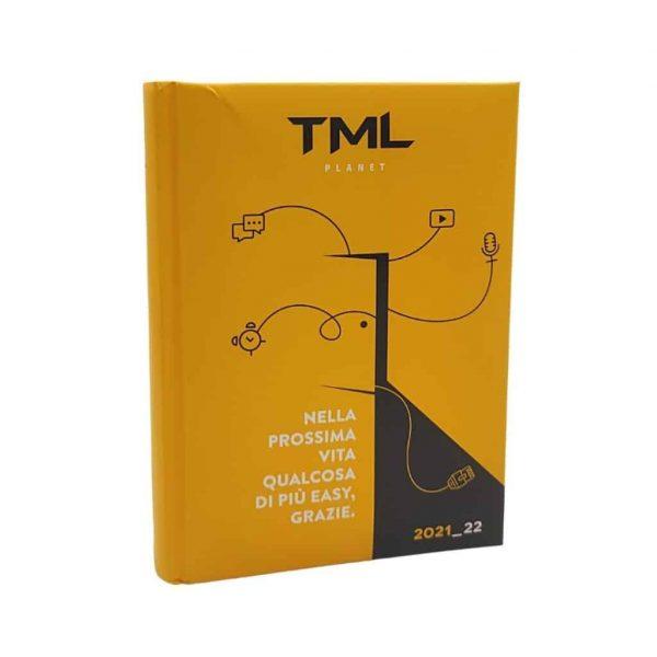 TML Diario 2021/22 Datato 12 Mesi Imbottito 13.5x18.5cm Giallo