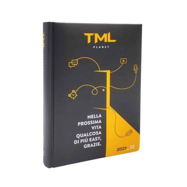 TML Diario 2021/22 Datato 12 Mesi Imbottito 13.5x18.5cm Nero