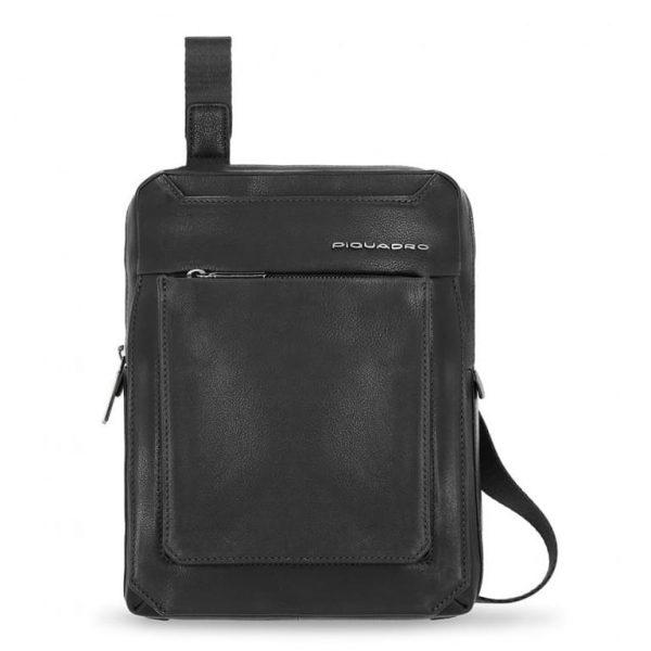 BORSELLO Piquadro Porta Tablet 11'' 2 Tasche in Pelle Tallin Nero