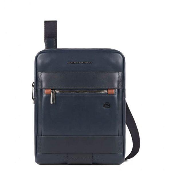 Borsello Piquadro porta iPad in pelle Obidos blu