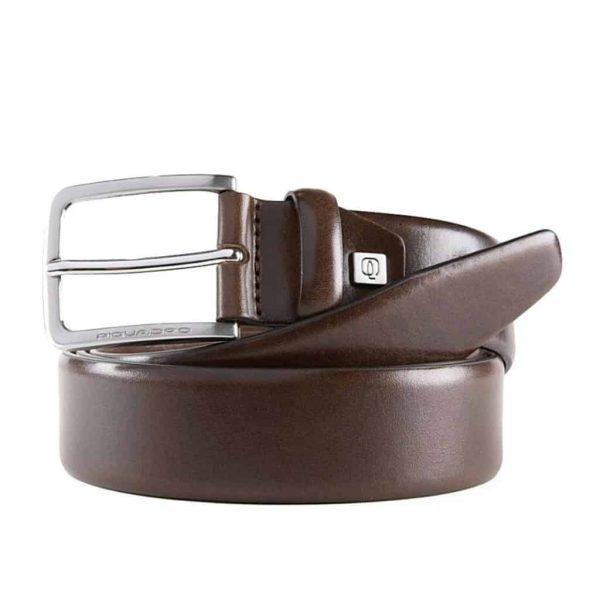 Cintura Piquadro Uomo 35 mm in Pelle Marrone
